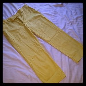 Banana republic yellow capris